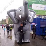 Надувная ростовая фигура на двух операторов Слон