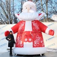 уличный дед мороз надувное новогоднее оформление