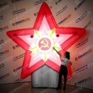 Надувная фигура Звезда с орденом+подсветка