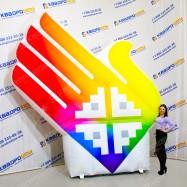 Надувная декорация для Сурдлимпийских Игр