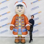 огромный костюм тедди в розовом платье