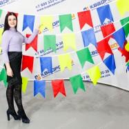 гирлянда из тканевых разноцветных флажков для улицы