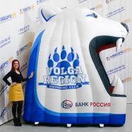Надувной реквизит для выхода спортсменов на лед