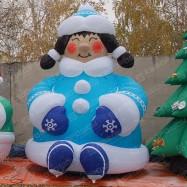 Надувная креативная Снегурочка