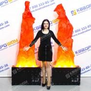 Горящий огонь имитация