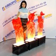 Огонь декорационный красный