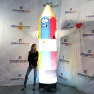 Огромная светящаяся фигура карандаш cleanhouse