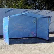 Каркасная палатка синяя с днем города