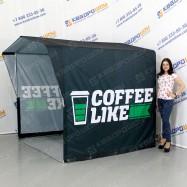 каркасная уличная палатка для кофе