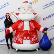 Надувная фигура классический Дед Мороз с мешком