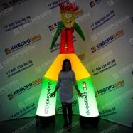 Надувная реклама Аэромен с подсветкой