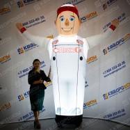Человек надувной Автомастер с подсветкой