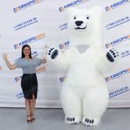 Надувная конструкция для праздника медведь