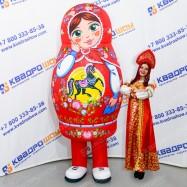 Надувная Матрешка городецкая роспись костюм