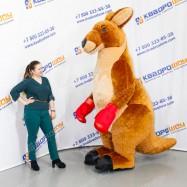 надувной костюм кенгуру с боксёрскими перчатками