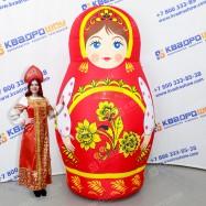 Надувной костюм Матрешка - неваляшка Хохлома
