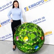 Мяч надувной Новогодний