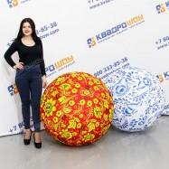 Большие надувные мячи Гжель и Хохлома