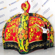 Надувная палатка Черная Хохлома