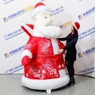 Надувная фигура Дед Мороз классический расписной