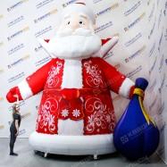 Дед Мороз надувной с мешком