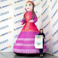 надувная декорация на татарский праздник девушка апа