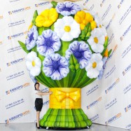 надувная декорация огромный букет цветов