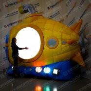Огромная пневмофигура подводная лодка с подсветкой