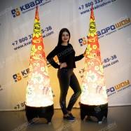 Надувные декорационные фигуры конусы с подсветкой