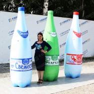 Пневмофигура бутылки воды