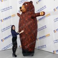 Надувной рекламный медведь
