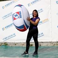 Надувная фигура мяч регби с брендированием