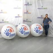 брендированный надувной мяч диаметром 1 метр