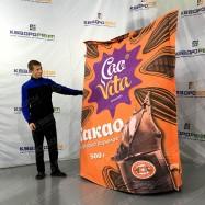 Надувная фигура огромная копия пачки какао