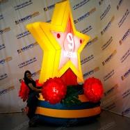 Надувная декорация Звезда с подсветкой