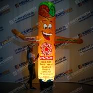 Надувная фигура для рекламы фастфуда Шаурма с подсветкой