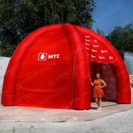 надувная фирменная палатка мтс