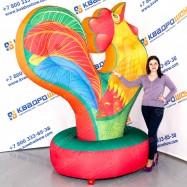 надувная игрушка декорация разноцветный петух