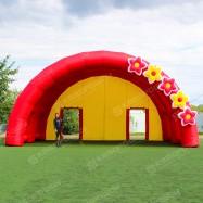 Надувная праздничная сцена с цветами