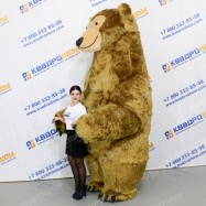 надувная кукла огромный надувной коричневый медведь