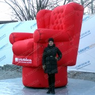 надувная мягкая мебель кресло для рекламы