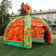 Надувная конструкция Палатка принт зеленая Хохлома