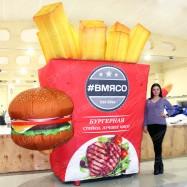 надувная рекламная фигура для бургерной и ресторана быстрого питания