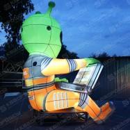надувная рекламная фигура инопланетянин ДНС на заказ