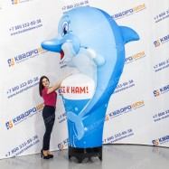 надувная рекламная фигура рокфор с машущей рукой