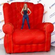 надувная конструкция кресло для рекламы