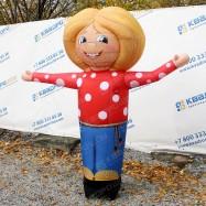 Надувная рекламная кукла домовенок зазывала