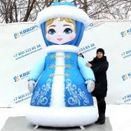 надувная снегурочка фигура для оформления нового года