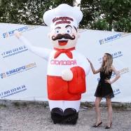 Надувная уличная кукла повар для рекламы столовой