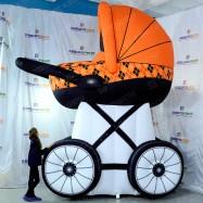 Надувной рекламный носитель коляска
